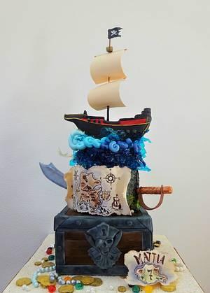 Pirates treasure cake - Cake by Clara