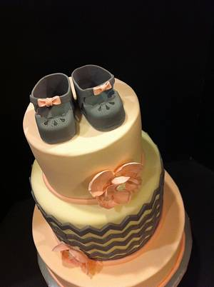 Girl Baby Shower - Cake by Woodcakes