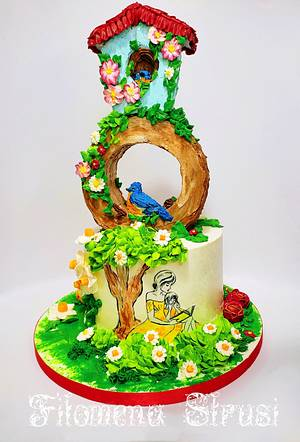 Spring buttercream cake - Cake by Filomena