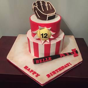 Softball cake - Cake by Sweet Owl Custom Cakes