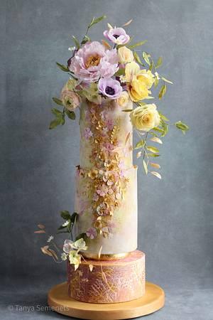 Floral cake  - Cake by Tanya Semenets (Hatano)