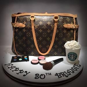 Louis Vuitton Handbag Cake - Cake by Dani