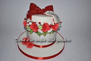 Flower box cake for Valentine's day - Cake by Daria Albanese