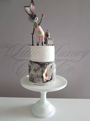 Hare & Geode Cake - Cake by Little Luxury Cake Co.