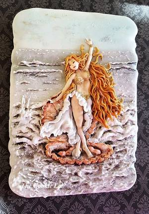 Story of a Mermaid......Under the Sea Sugar Art Collaboration - Cake by The Cookie Lab  by Marta Torres