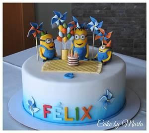 Minion´s birthday party - Cake by MartaMc