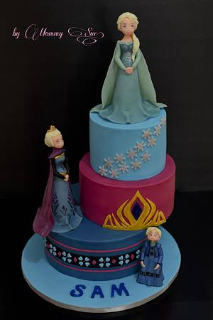 The Snow Queen - Frozen Themed Cake - Cake by Mommy Sue
