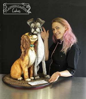 Lady and the Tramp 3D cake - Cake by Flappergasted Cakes