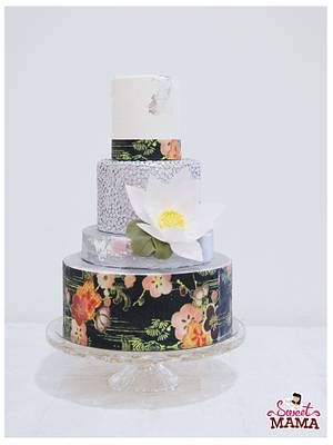 Oriental Silver Wedding Cake - Cake by Soraya Sweetmama