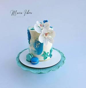 Orquídeas - Cake by Maira Liboa