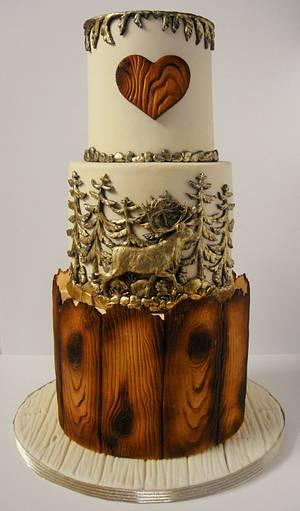 Rustic wedding cake  - Cake by Zohreh