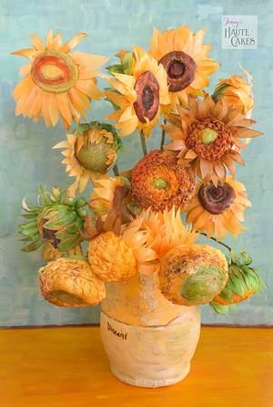 Van Gogh Sunflowers Tribute - Cake by Jenny Kennedy Jenny's Haute Cakes