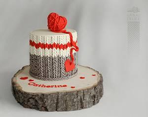 wool socks cake - Cake by Marie-Josée