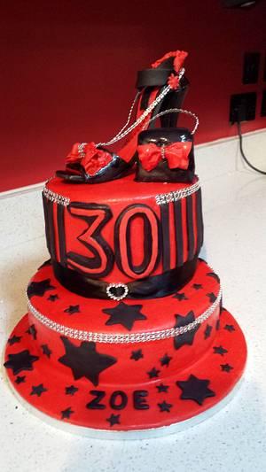 Red & Black theme - Cake by sofeesmum