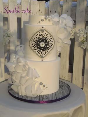 Wedding wafer paper cake - Cake by Valeria Antipatico