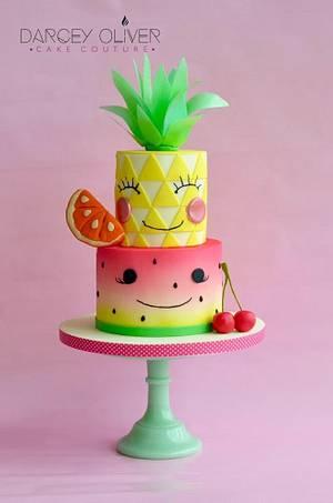 Tutti Frutti - Cake by Sugar Street Studios by Zoe Burmester