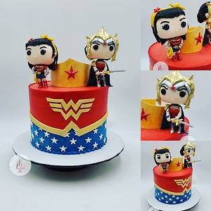 Wonder Women Funko Pop Inspired  - Cake by Simply Delicious Cakery