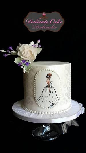 Hand Painted wedding cake - Cake by Yomna Elazawy