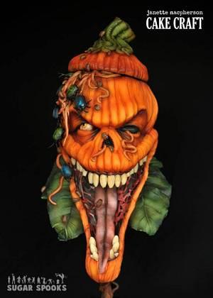 Creepy Crawly Jack - Sugarspooks collaboration - Cake by Janette MacPherson Cake Craft