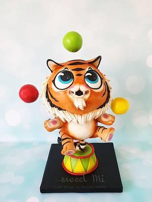Juggling Tiger - Cake by Milene Habib