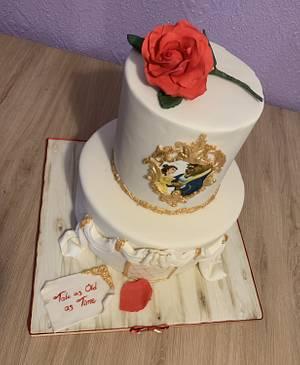 Beauty & the Beast wedding cake - Cake by Liz