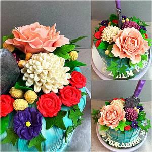 Flowers cake  - Cake by Julia
