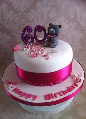 Tatty Teddy 60th Birthday cake. - Cake by Carrie