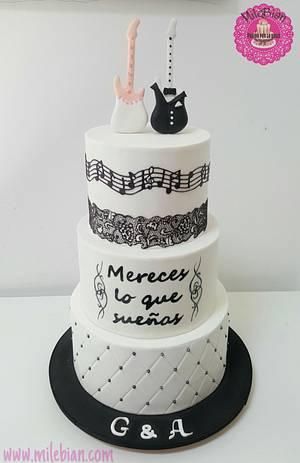 Musical Wedding Cake - Cake by MileBian