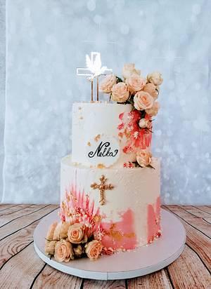 Church pink - Cake by alenascakes