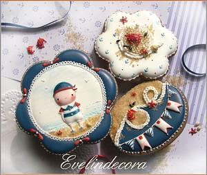 Sailor cookies  - Cake by Evelindecora