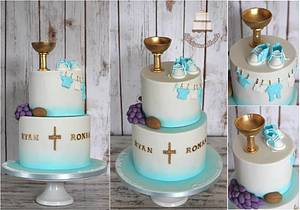 Holy Communion and Christening cake in one - Cake by Sylwia