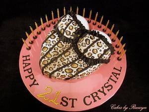 Leopard Print Corset - Cake by Raewyn Read Cake Design