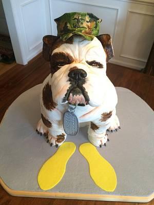 USMC Bulldog - Cake by Kim