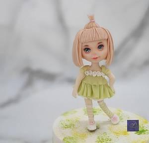 Sugar Doll  - Cake by Ms. V