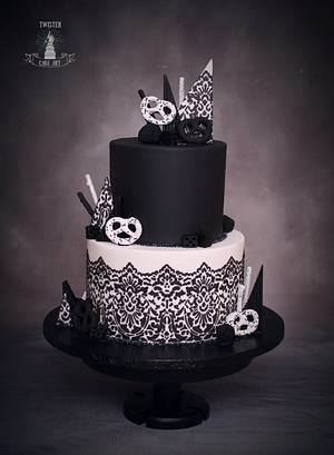 Black and White - Cake by Twister Cake Art