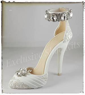 Wedding Lace Stiletto 2 - Cake by Corni