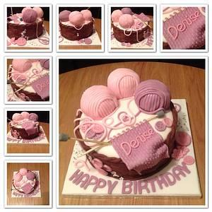 Knitting themed Cake - Cake by Sarah's Crafty Cakes