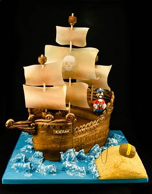 Swashbuckling pirate ship! - Cake by Sweet Harmony Cakes