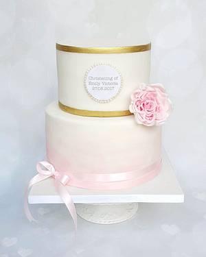 Simple christening cake - Cake by Vanilla Iced
