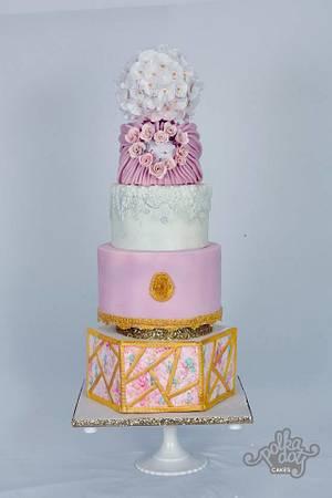 modern wedding cake - Cake by Nimmi