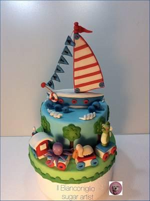 Baptism cake for Mattia - Cake by Carla Poggianti Il Bianconiglio