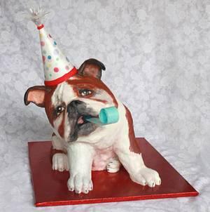 Bulldog party lover - Cake by Artym