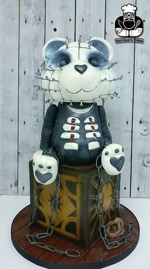 Hellraiser pinhead bear - Cake by Henrique Antunes - Henrique's Cakes