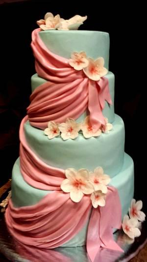Cherry blossom cake - Cake by Valevdldulcecreacion