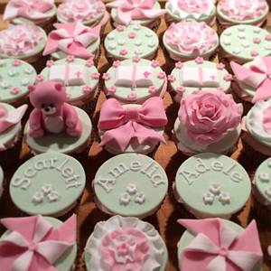 Girl Christening Cupcakes - Cake by The One Who Bakes