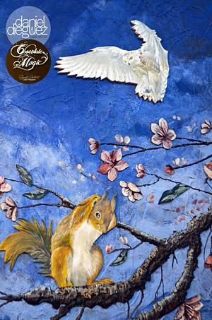 Spring Chocolate Magic with the Guest artist Calli Hopper at CI - Cake by Daniel Diéguez