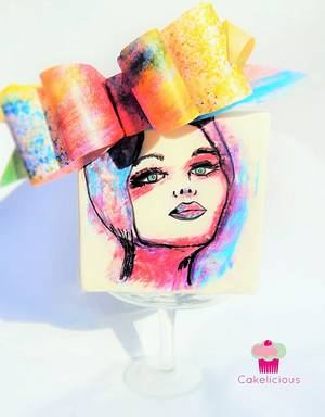 Vogue in Color - Cake by Rebekah Naomi Cake Design