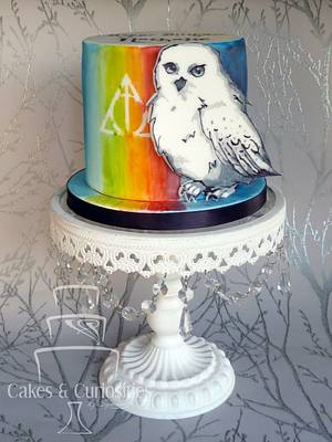 Hedwig Hallows Cake - Cake by Symone Rostron Cakes & Curiosities