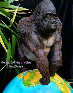"""Animal Rights collaboration Gorilla """"Silverback""""  - Cake by Fanie Feickert-Sell"""
