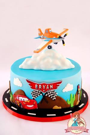 Cars - Planes Cake - Cake by SweetLin